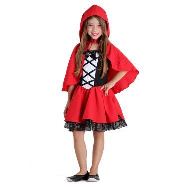 Imagem de Fantasia Chapeuzinho Vermelho Infantil Luxo - Era uma vez M