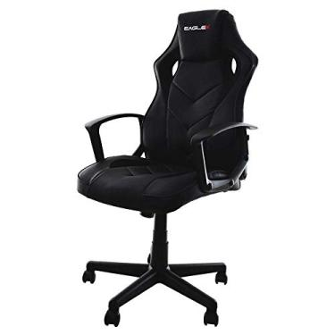 Cadeira Gamer Barata Preta Eaglex S1 120kg Com Ajuste de Altura e Modo Balanço