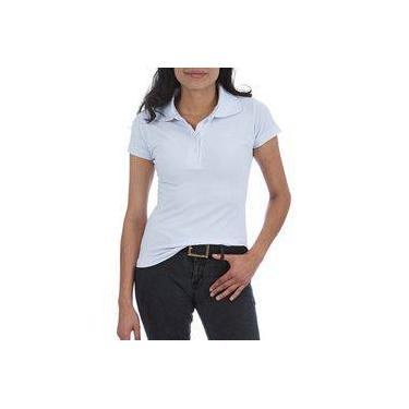 0c289aeb9c Camisa Polo Feminina Branca Lisa - P-m-g-gg