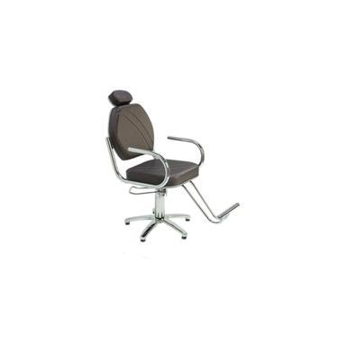 Imagem de Poltrona Cadeira Hidraulica Star Fixa Moveis Para Salão - Cabeleireiro - Cor: Marrom Bling