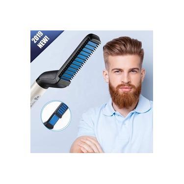 Chapinha Alisadora Modeladora Barba E Cabelo Masculino Homens