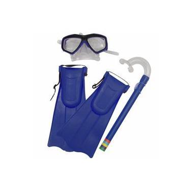 Imagem de Kit Mergulho Snorkel Infantil com Máscara e Nadadeiras Cores Variadas BELFIX