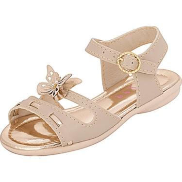 Sandália Plis Calçados Alegria Marfim  menina