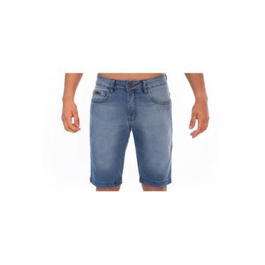 Bermuda Jeans Aee Surf Masculina Slim Confort Azul 503