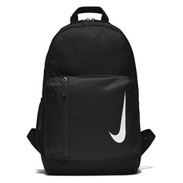Imagem de Nike Mochila infantil da equipe Academy, preta/branca, 45 x 30 x 13 cm