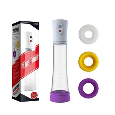 Imagem de Bomba Peniana Elétrica Recarregável Penis Pump High-Vacuum com 3 Anéis Penianos
