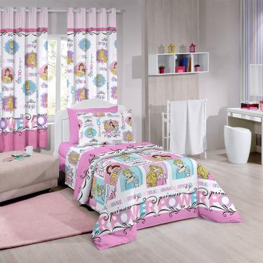 f8074189df Edredom Infantil Disney Light Dupla Face Santista - Rosa Claro