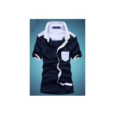 704ba94daf Camisa Social Manga Curta Cores Estilo Dubai