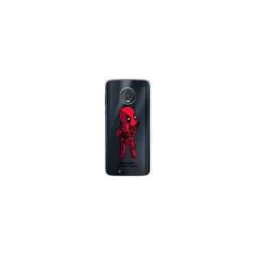 Capa para Moto G6 Plus - Vilões Precisam de Amor   DeadPool