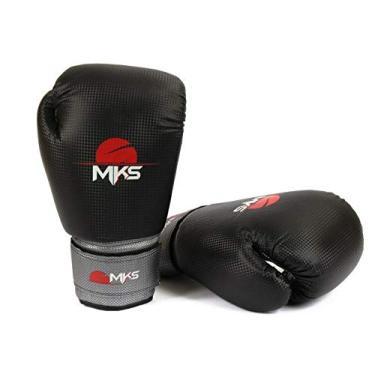 e23ff1ccc78bb Luva Muay Thai Kickboxing Prospect Mks Combat Preto e Cinza 16 Oz