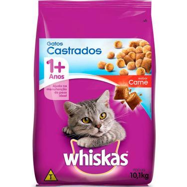 Ração Whiskas Carne para Gatos Adultos Castrados - 10,1 Kg