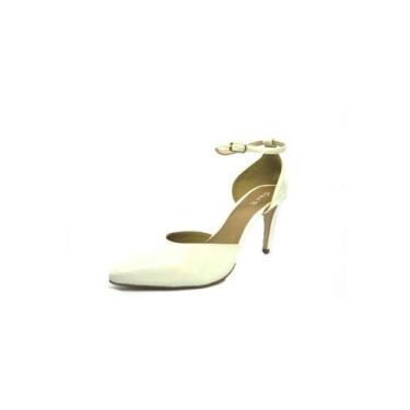 Sapatos Femininos Scarpin Verniz Creme Dani K Tamanho:40;Cor:Creme