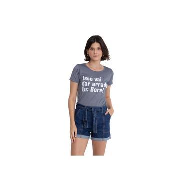 Camiseta Flamê Estampada Chumbo