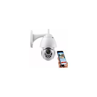 Câmera ip Rotativa Icsee Dome Gira 320º Prova D'água Externa Segurança WiFi Infravermelho Visão Noturna