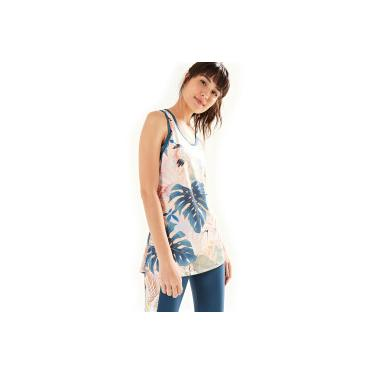 7224e068f Camiseta Regata Farm Rio Xô Suor Brisa Doce - Feminina - ROSA CLA AZUL ESC