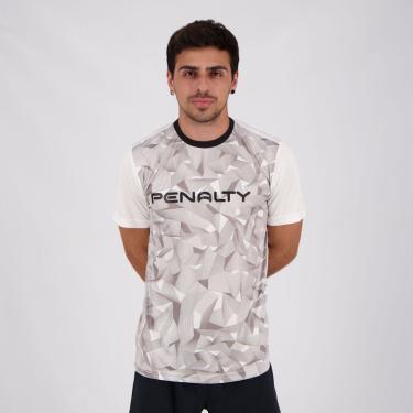 Camiseta Penalty Geometric X Branca e Cinza - M