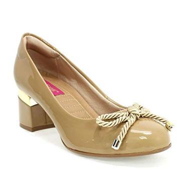 Sapato Feminino Verniz Light Santinelli Bronze 33
