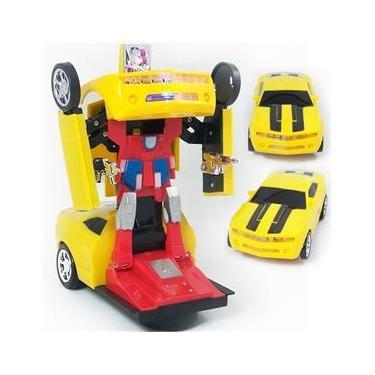 Carrinho Camaro Boneco Transformers Super Robo bumblebee