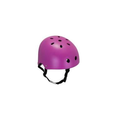 Capacete Esportivo Coquinho Regulável com 11 Entradas de Ventilação Rosa Fosco Atrio Tam. P - ES189 Atrio