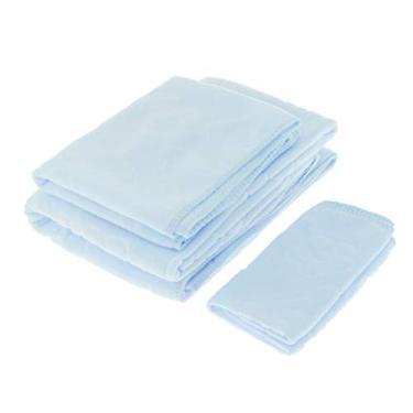 Imagem de Fanmusic Conjuntos de Toalhas de 3 Peças Casa de Banho para Casa de Ginástica Toalha de Banho 6 Cores Opcionais - Azul claro, Tamanho real