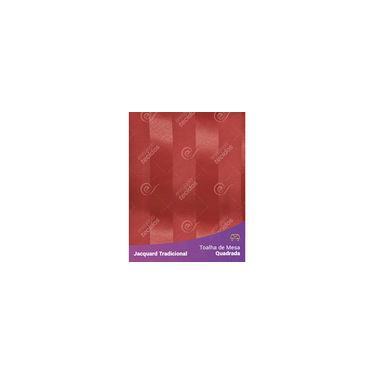 Imagem de Toalha De Mesa Quadrada Em Tecido Jacquard Vermelho Listrado Tradicional