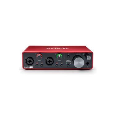 Interface De Áudio Focusrite 3nd Gen Scarlett 2i2 3ª Geração