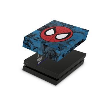 Capa Anti Poeira para PS4 Fat - Homem-Aranha Spider-Man Comics