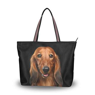 Bolsa de ombro My Daily Women Happy Dachshund, Multi, Large