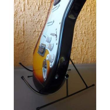 Imagem de Suporte Portatil Para Violão E Guitarra Chão Jm