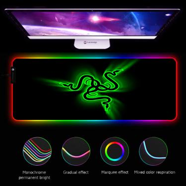 Rgb razer mouse pad gamers decoracion computador teclado esteira de mesa led acessórios para jogos