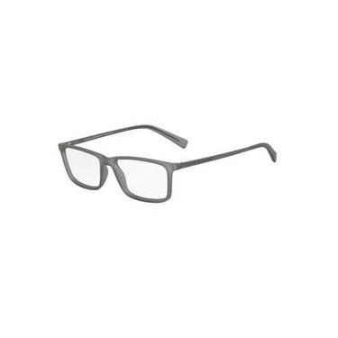 453d276270e99 Armação Oculos Grau Armani Exchange Ax3027l 8232 Cinza Translucido Fosco