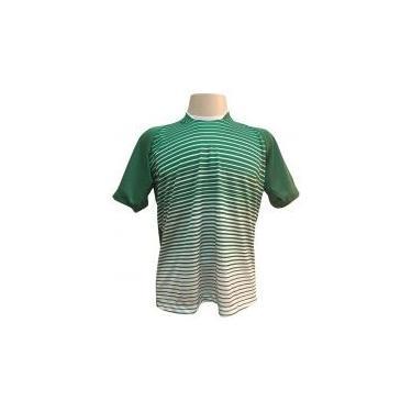 0fecdede61 Jogo de Camisa com 18 unidades modelo City Verde Branco + 1 Goleiro +  Brindes