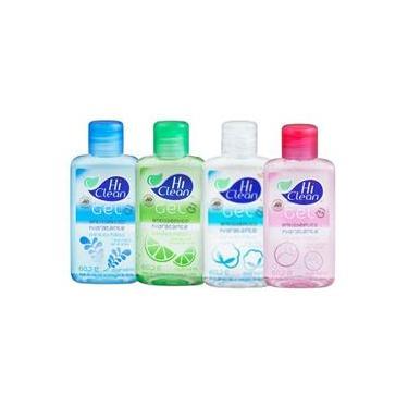 Kit Gel Antisséptico Hi Clean 4 fragrâncias 70ml
