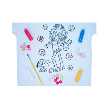 Pintura em Camiseta - Menina - Tamanho M - Kits for Kids