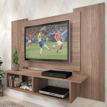 Painel Para Tv Até 48 Polegadas Anthony 2 Nichos Teka - Pnr Móveis