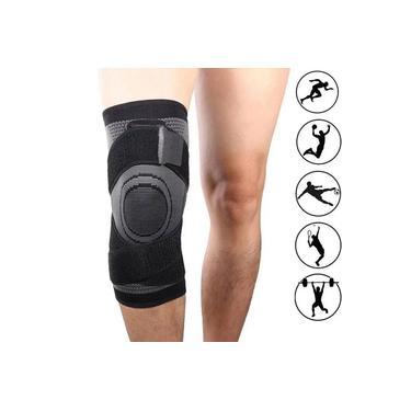 Imagem de Joelheira Elastica 3D bandagem Compressão Exercício Joelhos Estabilidade Academia Apoio Suporte Articulação Fitness