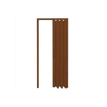 Porta Sanfonada PVC Polifort 210cmx90cm Mogno