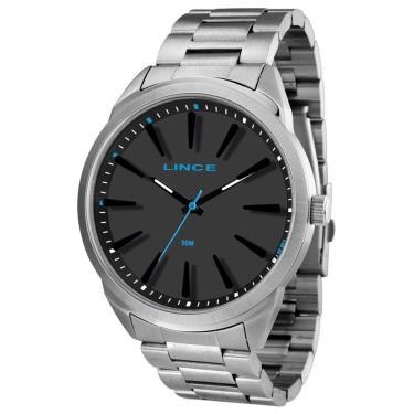521d2b5f16f Relógio Masculino Lince Analógico MRM4384S P1SX - Prata Preto