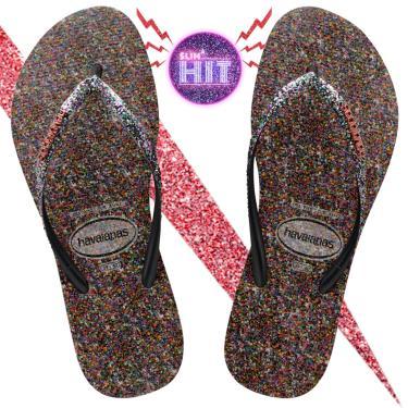 Sandálias Havaianas  Slim Hit Multicolorido  feminino