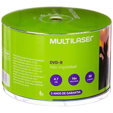 Multilaser DV060, Mídia Dvd-R Shrink Capacidade 4.7Gb 16X, 50 Unidades