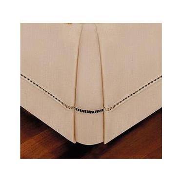 Imagem de Saia Ponto Palito Bege Para Cama Box King Size 1,93x2,03x36