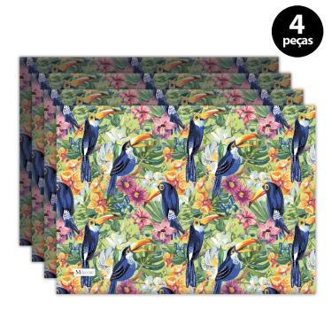 Imagem de Jogo Americano Mdecore Tucano 40x28 cm Verde 4pçs