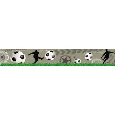 5d9c8569bc Faixa parede infantil border adesivo futebol bola menino 16