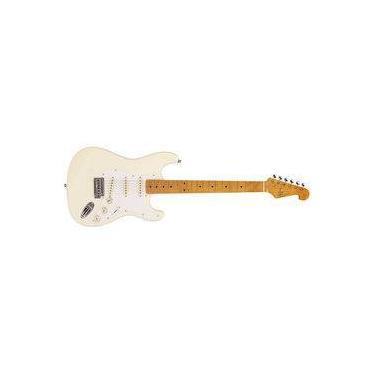 Imagem de Guitarra Sx Sst57 Vwh Vintage White Series Branca Com Bag