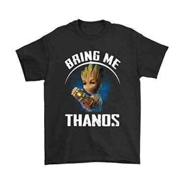 Imagem de Camiseta Básica Unissex Algodão Bring Me Thanos Groot HQ (Rosa Bebê, GG)