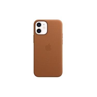 Capa com MagSafe para iPhone 12 mini Apple, Couro Castanho
