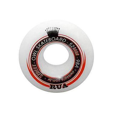 Roda para Skate Rua 52mm Owl Sports - Branco