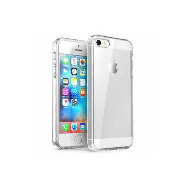 cd4a7fb47b Capa Iphone Se   5s   5 - Transparente Silicone Tpu