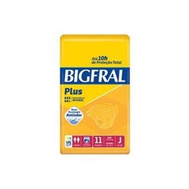 Fralda Geriátrica Bigfral Plus Compacta Juvenil 11 Unidades
