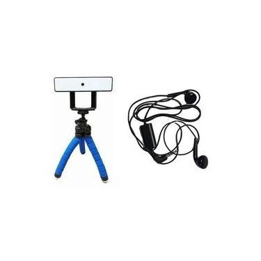 Kit Video Chamada Webcam Usb Com Microfone E Tripé